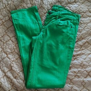 J.Crew Matchstick Green Jeans Size 27